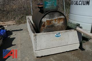 250 Gallon Waste Oil Tank with Concrete Container