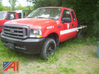 2004 Ford F250 Super Duty Pickup Truck with Flatbed