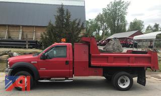 2006 Ford F550 Dump Truck with Plow