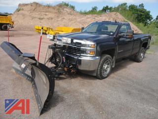 2015 Chevy 3500 Silverado Pickup Truck & Plow