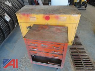 Snap On Rolling Tool Cabinet & Metal Cabinet
