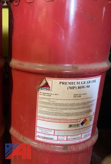(#11) Citgo Premium 80W90 Gear Oil Drum, New/Old Stock