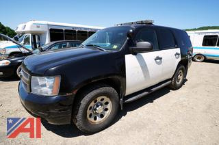 2011 Chevy Tahoe Suburban Police Vehicle