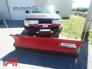 2008 Chevy Silverado 1500 Pickup Truck with 7' Western Plow