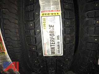 Firestone Winter Force Studded Tires 225/60R16, New/Old Stock