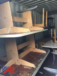 (918) Storage Pod Filled With Various School Furniture