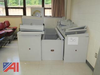 (#36) Metal File Storage Rack System