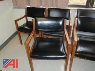 (#38) Wood Frame Chairs