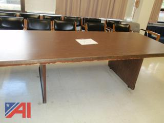 (#40) Wood Conference Room Table