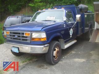 1997 Ford F450 Super Duty Utility Truck with Crane