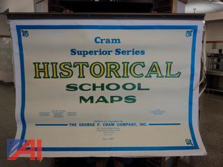 Classroom World Maps & Various School Books