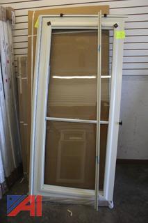 Storm Door with Trim Piece
