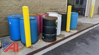 Various 55 Gallon Empty Barrels