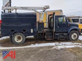 1999 International 4700 Service Body/Crane Truck