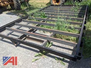 14' Custom Steel Flat Bed