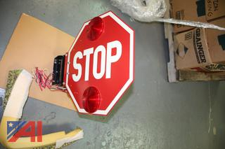 SMC Bus Stop Sign and3 Ring Binders