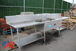 12' Stainless Steel Double Sink