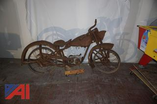Late 1940's Harley Davidson Motorcycle Tele Glide