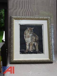 Framed Panther Batik