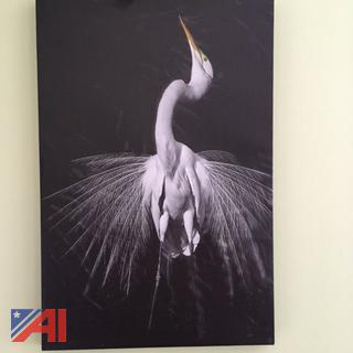 Great Egret Canvas Wrap