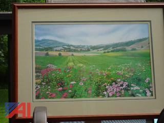 Framed Water Color Print