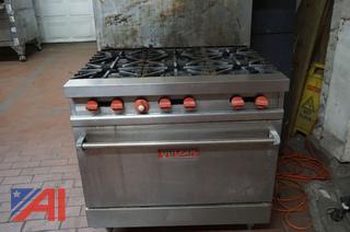 Vulcan Gas Six Burner Oven