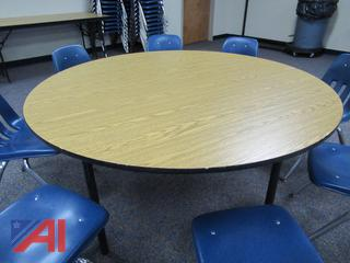 "60"" Round Laminate Folding Banquet Tables"