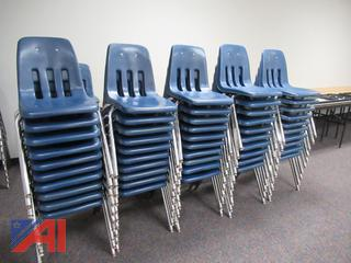 Various Amount of Stacking Chairs by VIRCO
