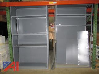 Lot of Various Metal Shelving