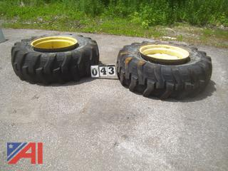 16.9 x 24 Loader Tires and Rims