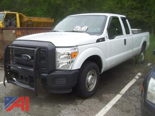 2012 Ford F250 Super Duty Pickup Truck with Toolbox