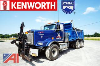 2012 Kenworth T800 Dump Truck with Plow and Wing