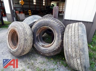 Assorted Used Heavy Truck Tires and Rims