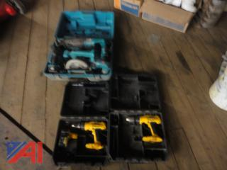 Makita and Dewalt Cordless Tools