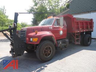 1997 Ford F800 Dump Truck & Plows