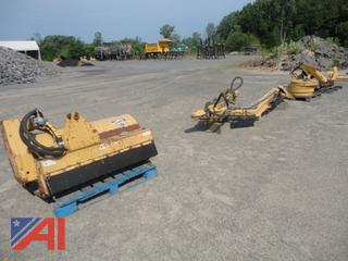 Diamond Flail Mower, Hydraulic Boom, Weights, Attachment and Boom Rest