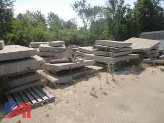 Large Amount of Cut Concrete Slabs Sections