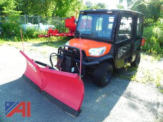 2016 Kubota RTVV-X1140 ATV Utility Vehicle with Dump & V-Plow