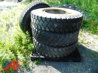 (#1) 11.00R22 Tires with Rims