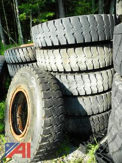 (#3) 12R24.5 Tires with Rims