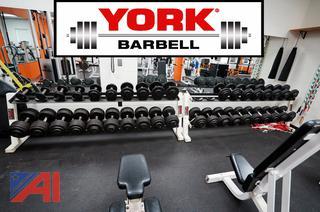 8' York Barbell Racks with Barbells