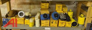 Flange Receptacles and Female Plug Sets, New/Old Stock