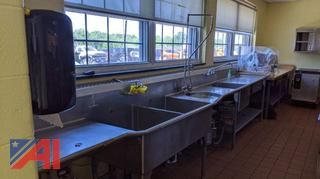 3-Bay Stainless Steel Sink