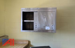 Stainless Steel Wall Cabinet with2 Shelves