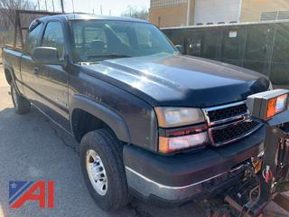 2006 Chevy Silverado 2500HD Extended Cab Pickup Truck with Lift Gate & Plow