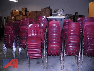 (#12) Plastic Chairs with Metal Legs
