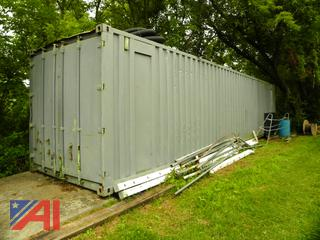 (#21) 40' x 8' Wooden Floor Storage Trailer