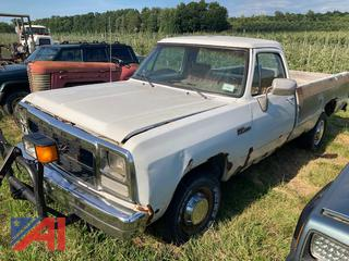 1992 Dodge Ram 250 Pickup Truck with Plow Mount