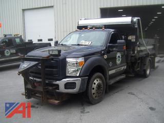 2012 Ford F550 Dump Truck with Plow and Sander