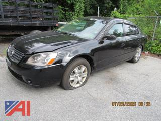 2006 Nissan Altima 4 Door Sedan